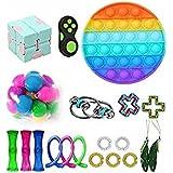 20 Pcs Fidges Fidget Toy Set Cheap Sensory Fidget Toys Pack Autism Special Needs Stress Reliever gift Relieve the Stress of A