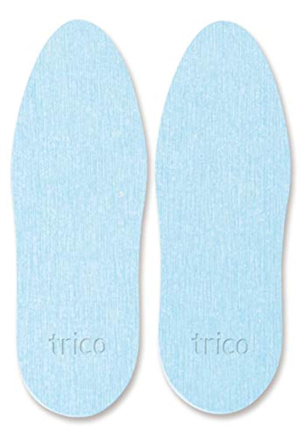 ビルダー漫画かかわらずtrico 靴の消臭 珪藻土 シューズドライプレート ブルー CTZ-18-02