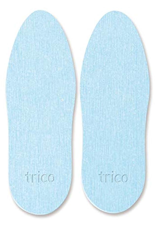 喜劇立ち寄る無実trico 靴の消臭 珪藻土 シューズドライプレート ブルー CTZ-18-02