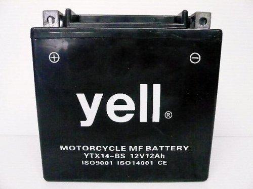 充電済 yellバイク用バッテリー YTX14-BS(GTX14-BS・FTX14-BS互換) 密閉型 メンテナンスフリー 1年保証 14-BS