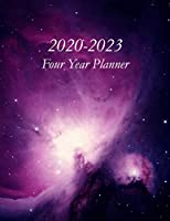 2020 – 2023 Four Year Planner: Orion Nebula Cover – Includes Major U.S. Holidays and Sporting Events