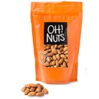 Dry Roasted Unsalted Almonds 2 Pound Bag - Oh! Nuts