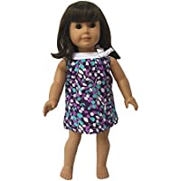 Glamerup: Melody - Lovely White Collared Blue Doll Shift Dress, Made for Most 18 inch Dolls