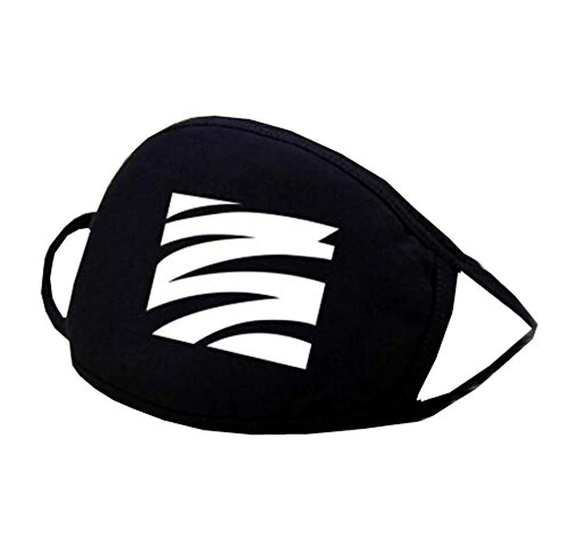 八百屋さんノーブルデコレーション男女兼用ブラックコットンフェイス口マスク再使用可能防塵抗菌マスク - K