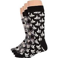 Happy Socks Black and White Men's Socks Gift Box Set of 4, Black/White. 10-13