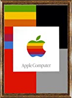 ポスター アップル アップル/パーソナルコンピューター(マルチ) 額装品 コンペックスフレーム(ゴールド)