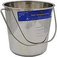 ZEEZ SS Round Bucket Pail 8.5L, Stainlee Steel