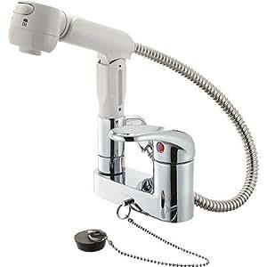 SANEI シングルスプレー混合栓 スプレー式シャワー