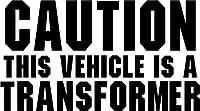注意この車A Transformer面白いビニールデカールステッカーバンパー車トラックウィンドウ 06 inch Wide N.FUN1007-06RD
