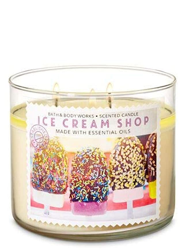 悪化する里親落とし穴【Bath&Body Works/バス&ボディワークス】 アロマキャンドル アイスクリームショップ 3-Wick Scented Candle Ice Cream Shop 14.5oz/411g [並行輸入品]