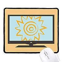 PINGFU 黄色い太陽日光ハンドペイントコンピュータマウスパッド滑り止めラバーマウスパッドゲームオフィス