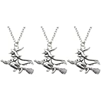 Amosfun 3pcs Witch Charm Pendant Necklace Witch Party Favors Gifts