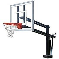 最初チームHydroShot IIIステンレスsteel-acrylic調整可能プールサイドバスケットボールsystem44、サドルブラウン