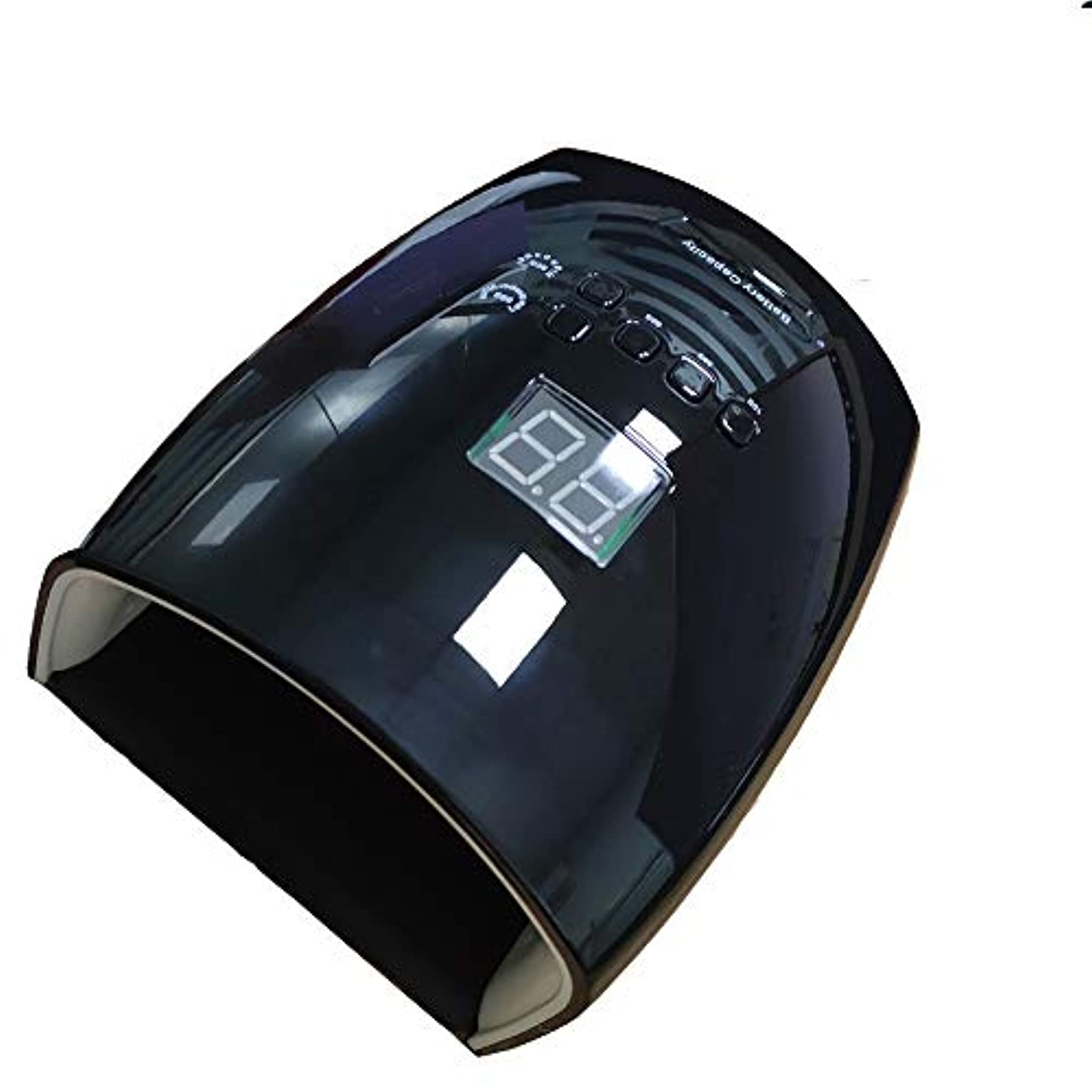 シーケンスシプリーほこりLEDネイルマシン、インテリジェント赤外線センサー多機能ネイル硬化機プロの美容ネイルポリッシャー、取り外し可能な高速乾燥ジェルマシン