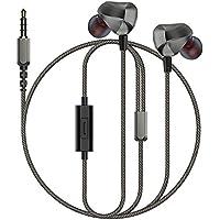 Auglamour F100 金属製 スポーツイヤホン イヤフォン 高音質 耳掛け型 マイク付き 亜鉛合金ハウジング 有線 ランニングに適応