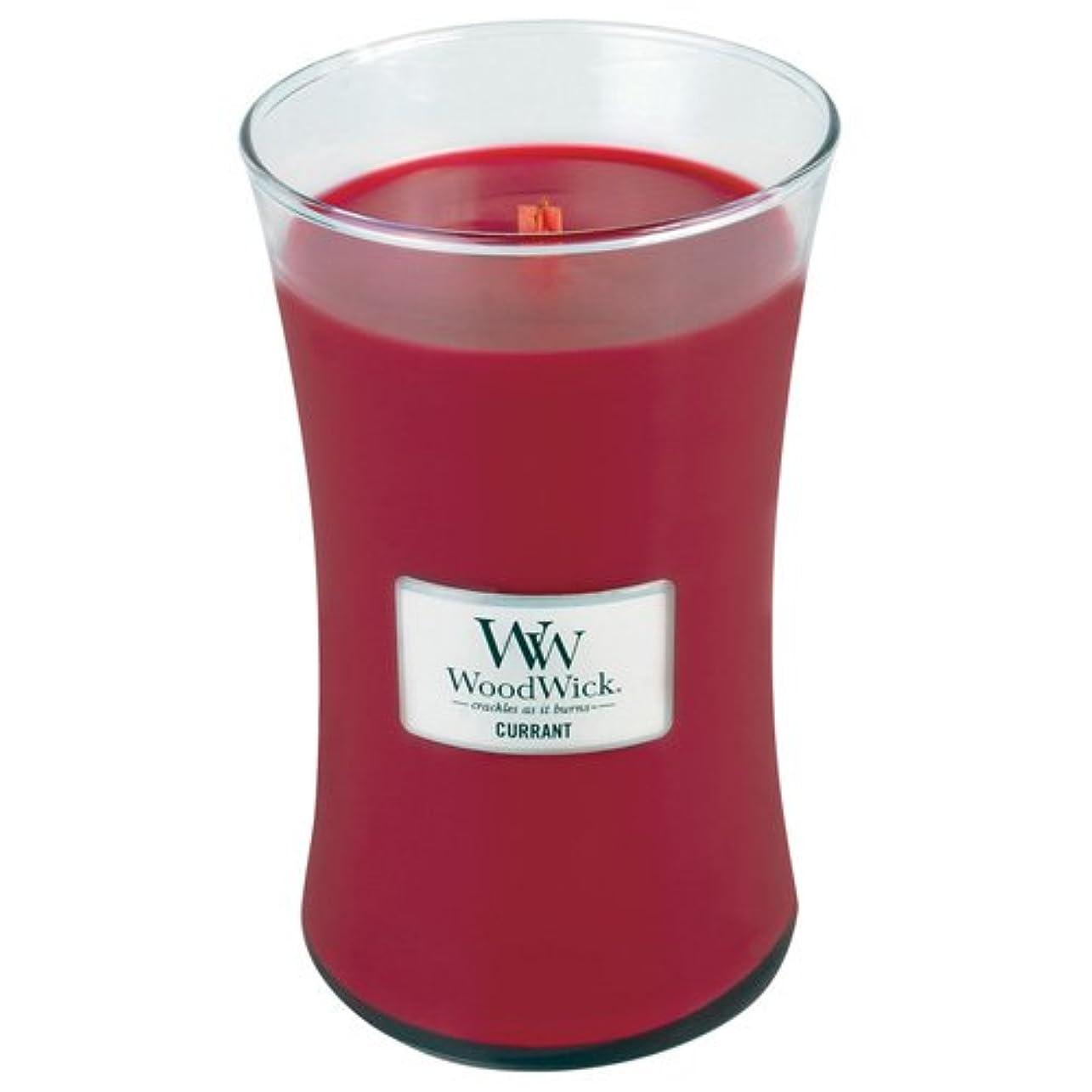 ヒューム揮発性ジャズWoodwick Jar Candle (Large) (Currant)