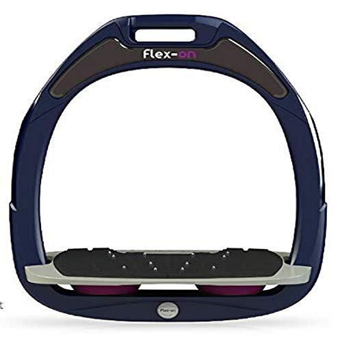 【Amazon.co.jp 限定】フレクソン(Flex-On) 鐙 グリーン COMPOSITE RANGE Mixed ultra-grip フレームカラー: ネイビー フットベッドカラー: グレー エラストマー: プラム 11849