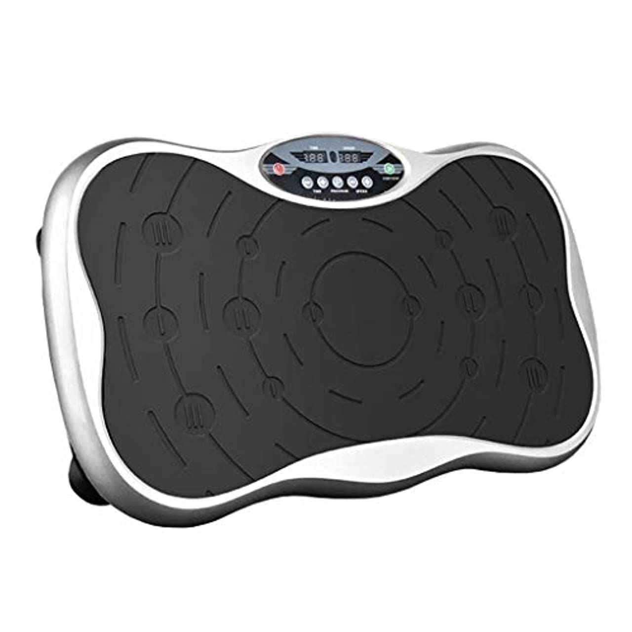 入植者豚夫婦減量装置、フィットネス振動プラットフォーム-エクササイズフィットネスマシントレーナー-ボディマッサージスリム-振動プラットフォーム-全身振動 (Color : 銀)