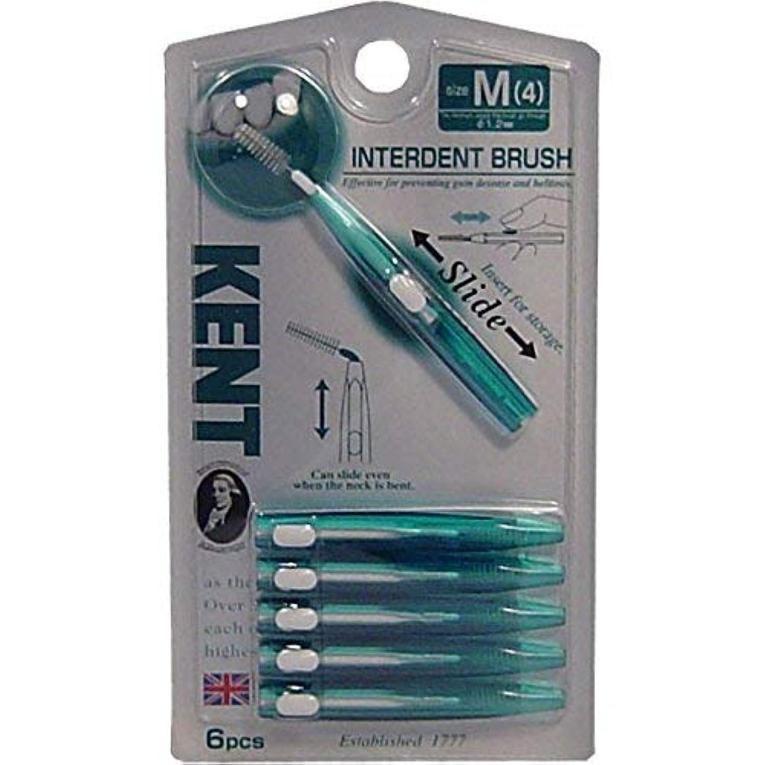 貸す欠伸ストライプKENT(ケント)歯間ブラシ Mサイズ 6本入 ×10個セット