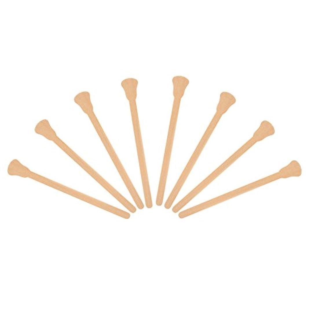 アーサーコナンドイルコーンあいにく100本入れ 木製 ワックスヘラ 舌圧子 使い捨て フェイシャルマスク 脱毛クリームアプリケーター