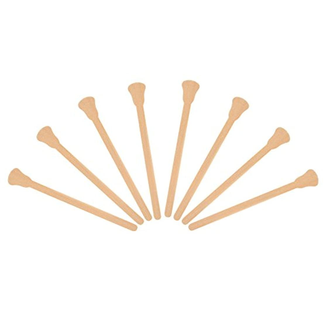 直接プラグ必要ない100本入れ 木製 ワックスヘラ 舌圧子 使い捨て フェイシャルマスク 脱毛クリームアプリケーター