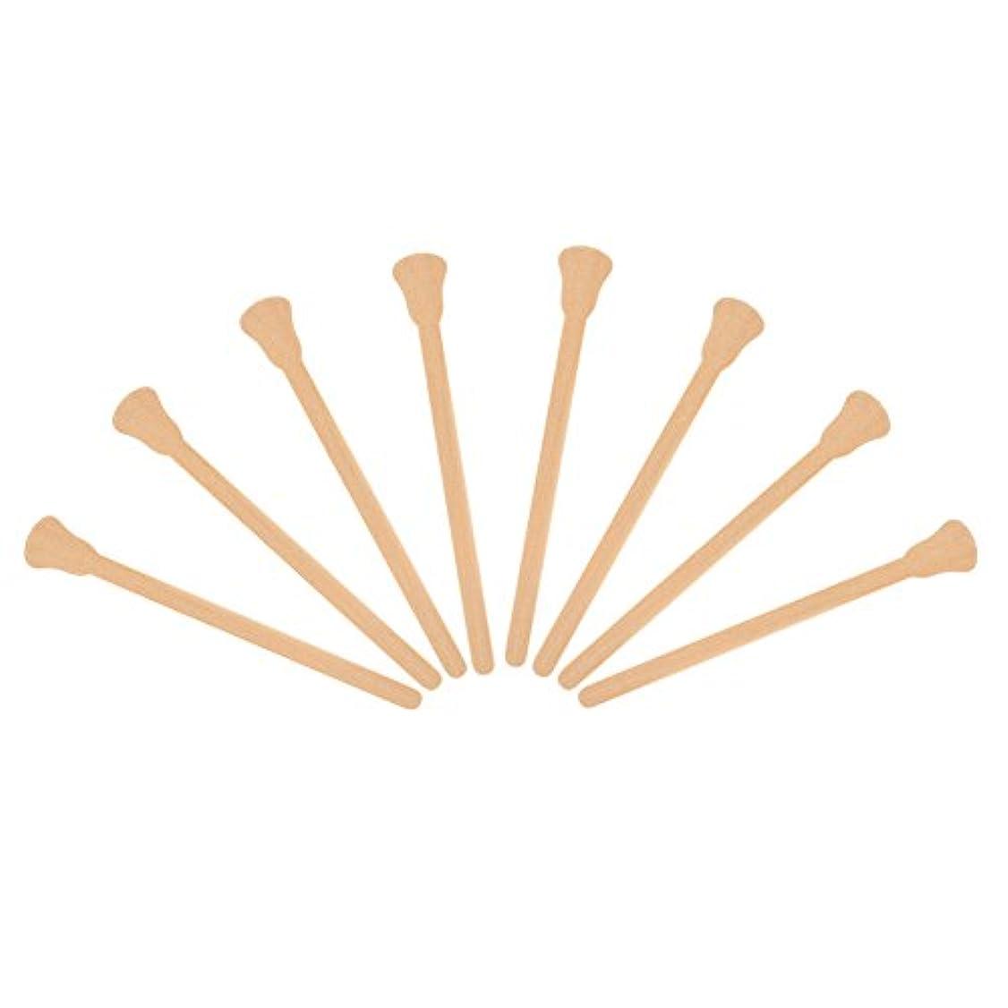 見捨てられたスケジュール法律50ピース木製 ワックスへら舌圧子使い捨てフェイシャルマスク髪削除クリームアプリケーター