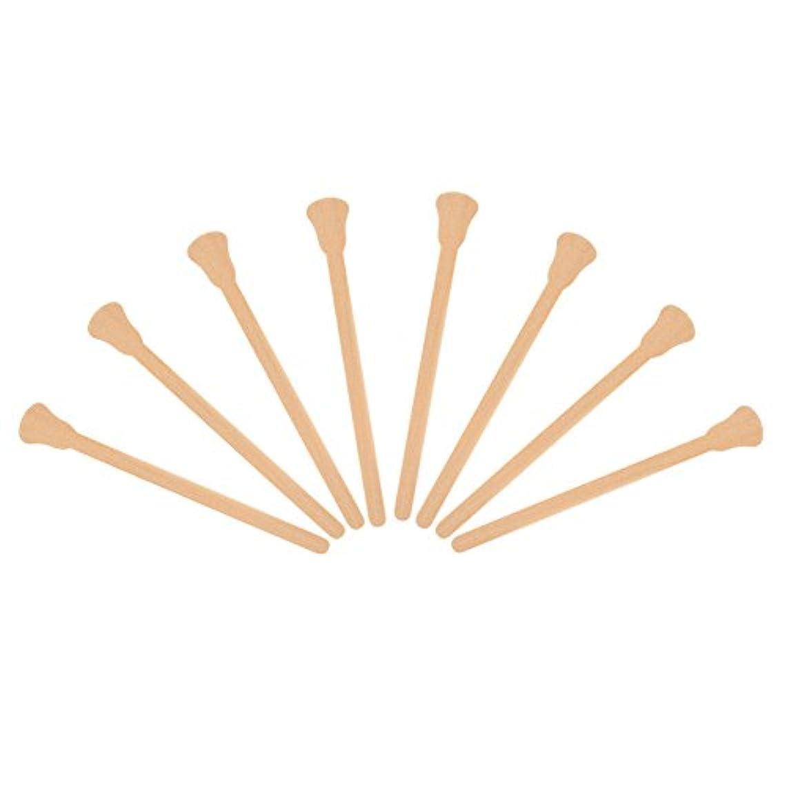 高原北方超音速50ピース木製 ワックスへら舌圧子使い捨てフェイシャルマスク髪削除クリームアプリケーター
