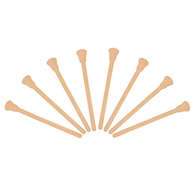 クリーナー彼らエスカレート100本入れ 木製 ワックスヘラ 舌圧子 使い捨て フェイシャルマスク 脱毛クリームアプリケーター