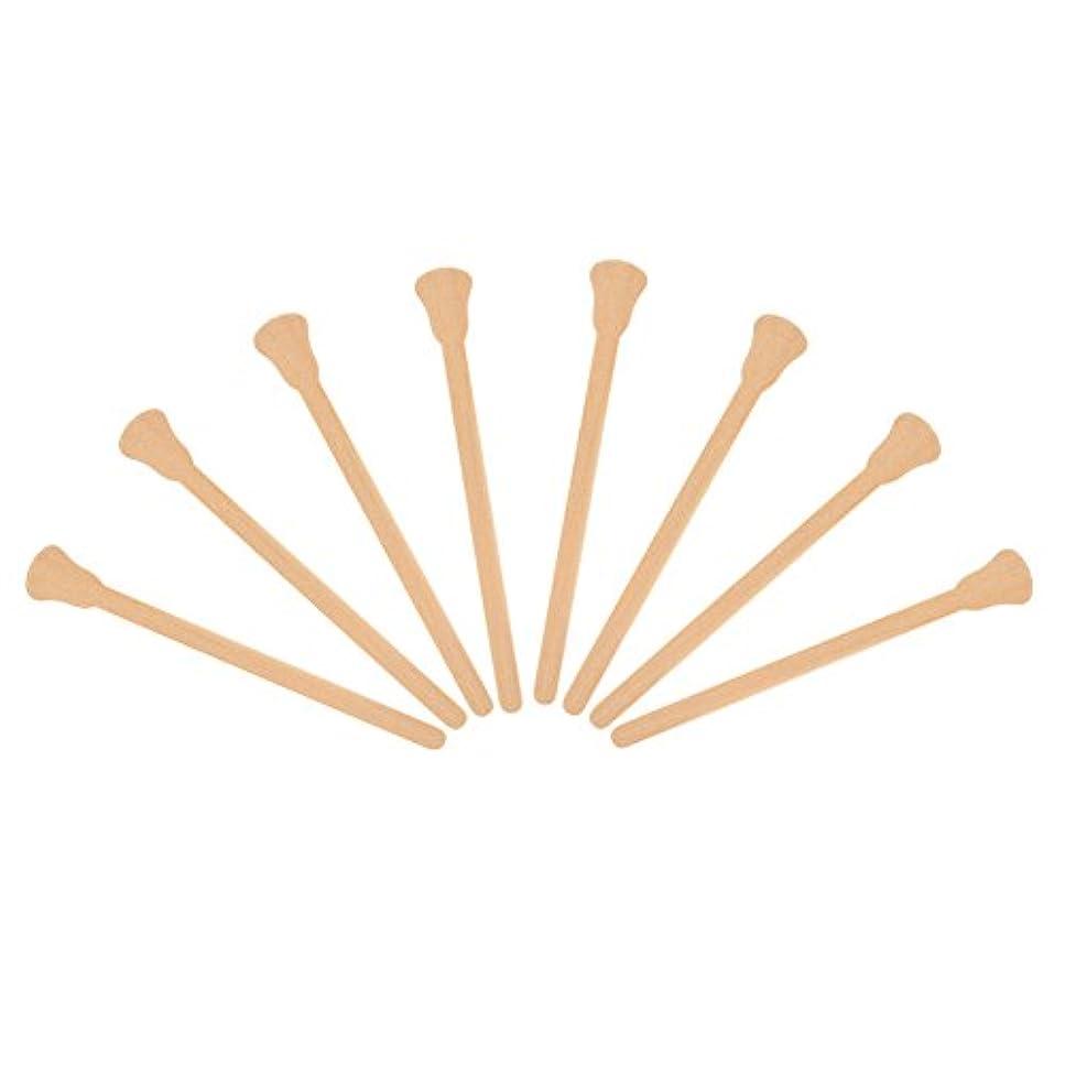 十分アミューズバックグラウンド50ピース木製 ワックスへら舌圧子使い捨てフェイシャルマスク髪削除クリームアプリケーター