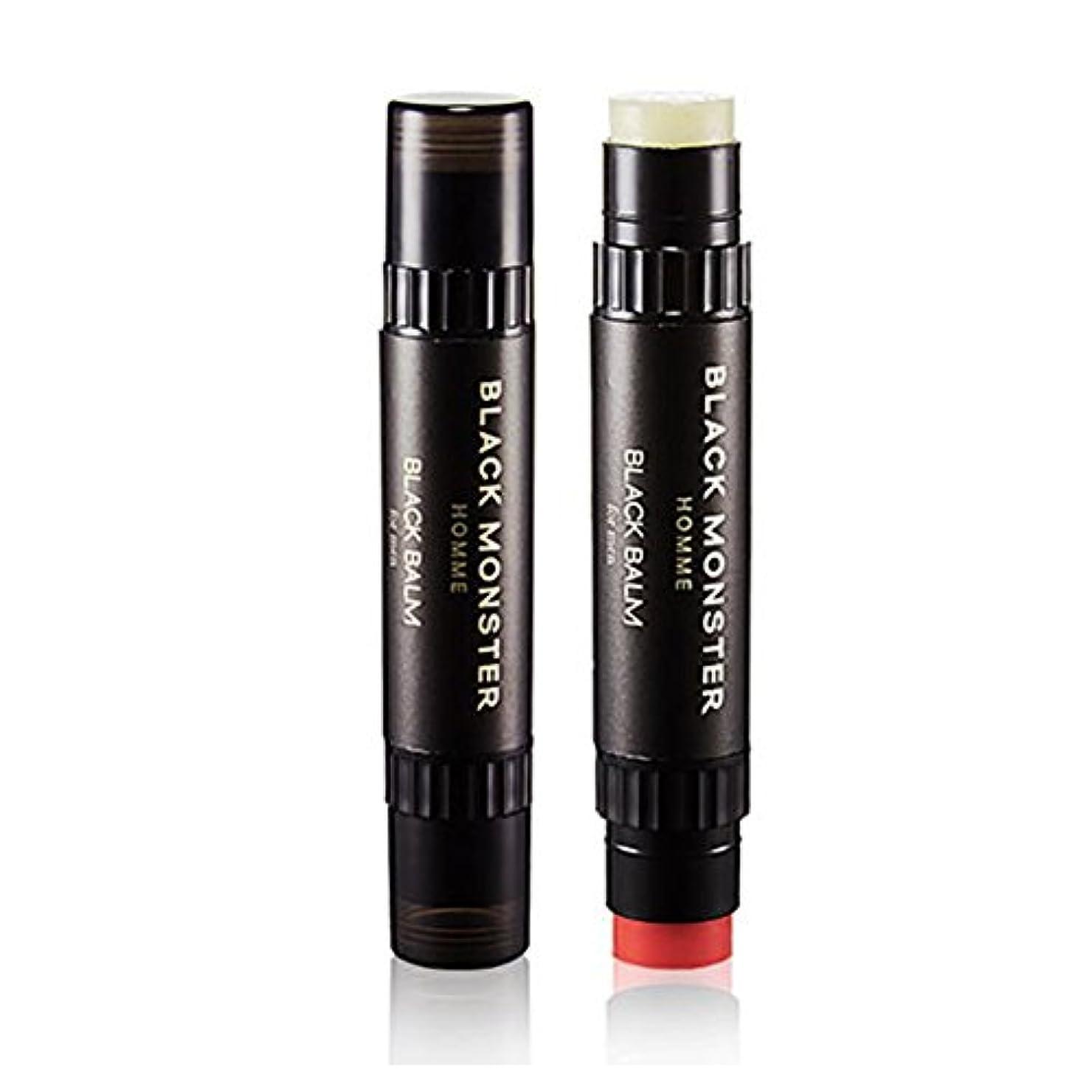 バケットサンプル目的ブラックモンスターオムブラックバムリップバム4.8g、チェリーの香りケモマイルの香りメンズコスメ、Black Monster Homme Black Balm Lip Balm 4.8g Cherry Scent Chamomile Scent Men'Cosmetics [並行輸入品]