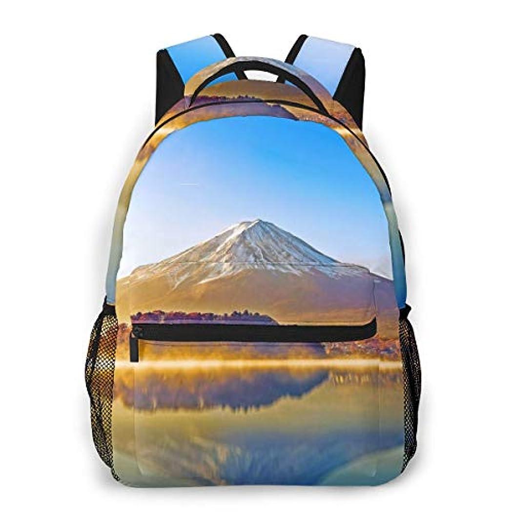 繁雑急勾配の相談Zetena リ ュックリュックサック 山 富士山 湖 太陽光 バックパック デイパック おしゃれ 旅行 通学 通勤 15.6インチラップトップ収納可能 アウトドア 遠足 出張 男女兼用