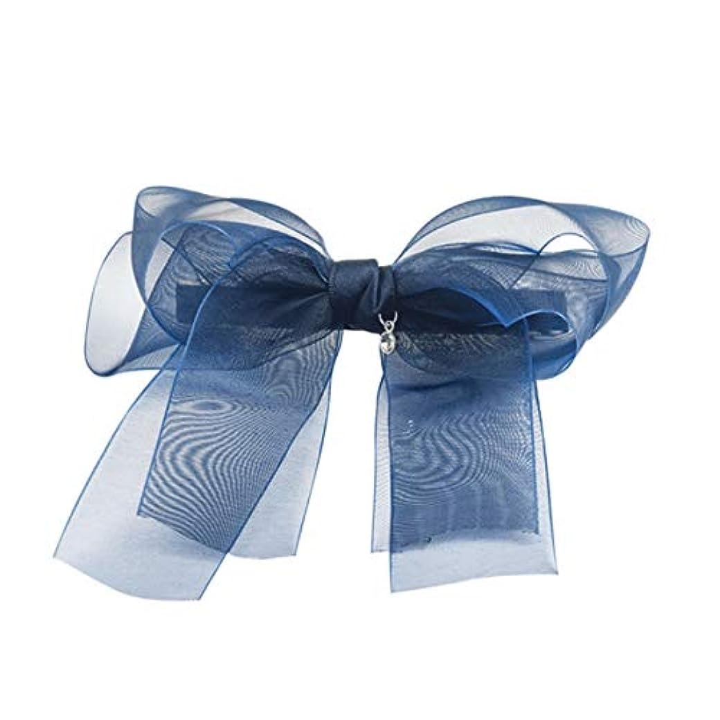 亡命嘆願平等ヘアクリップ、ヘアピン、ヘアグリップ、ヘアグリップ、ヘアピン女性の大きなポニーテールクリップファッションポップフラワーヘアピン布の頭飾りバナナクリップ垂直クリップ手作りの生地パープル、グレー、ブルー (Color : Gray...