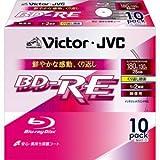 ビクター 2倍速対応BD-RE 10枚パック 25GB ホワイトプリンタブルVictor BV-E130EW10