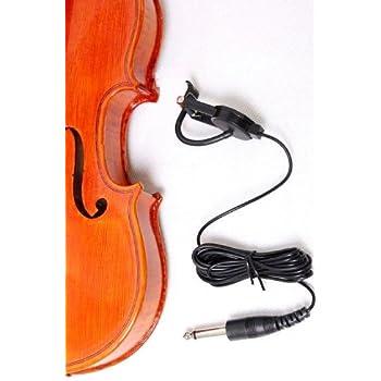 Amazon | バイオリン ピックアップ コンタクトマイク 変換 ...