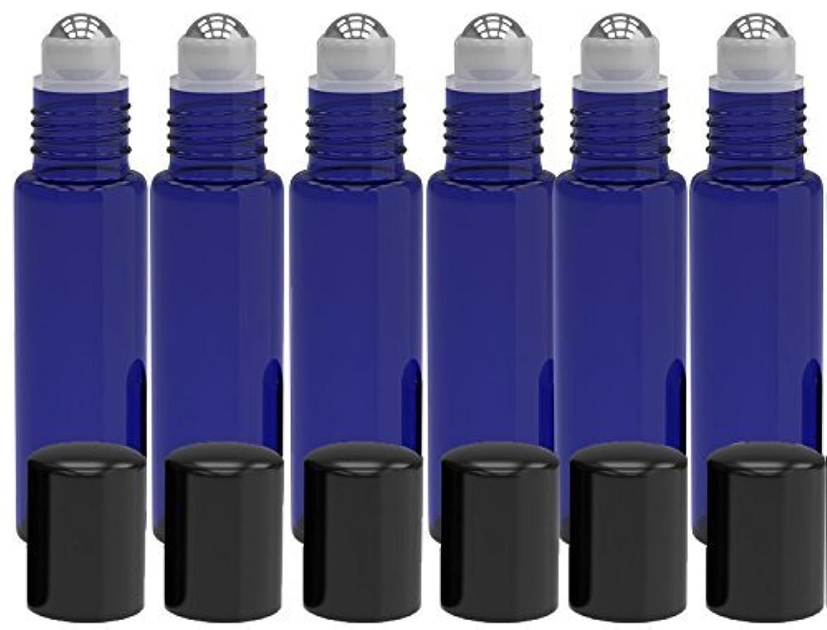所持ブームマネージャー6 Pack - Empty Roll on Glass Bottles [STAINLESS STEEL ROLLER] 10ml Refillable Color Roll On for Fragrance Essential...