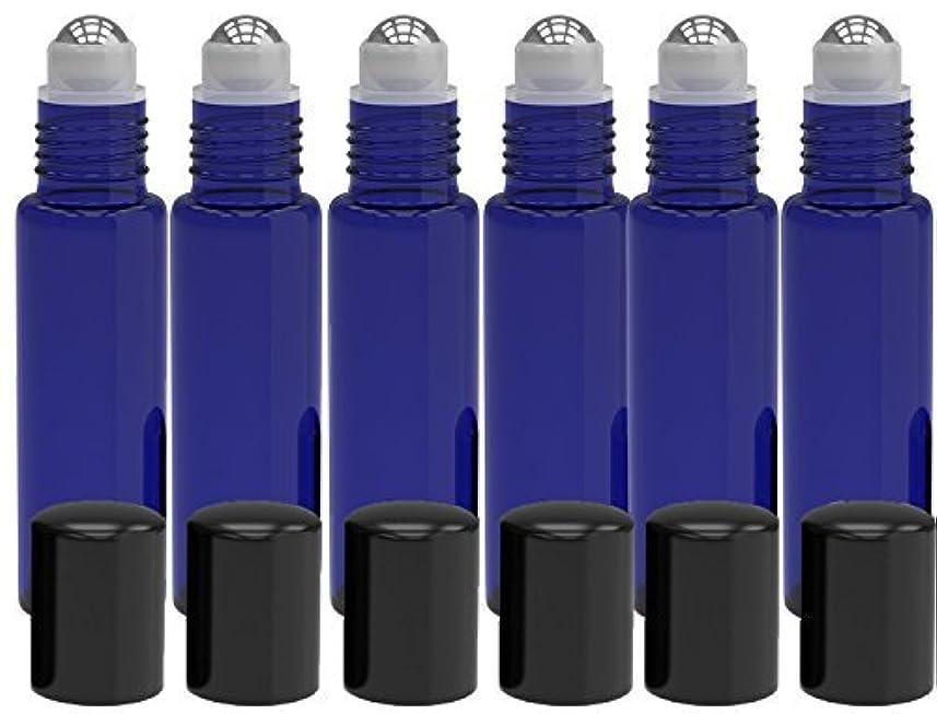 どちらも歯科のギター6 Pack - Empty Roll on Glass Bottles [STAINLESS STEEL ROLLER] 10ml Refillable Color Roll On for Fragrance Essential...