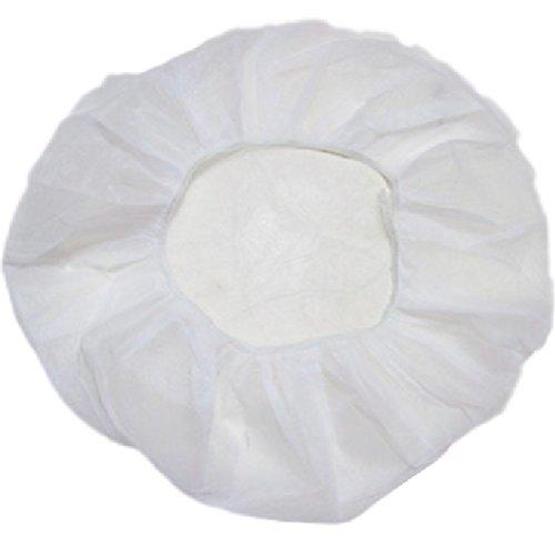 sabbath 業務用 不織布 ヘアキャップ 使い捨て 衛生 食品 加工 工場 大きめ 100個, 白