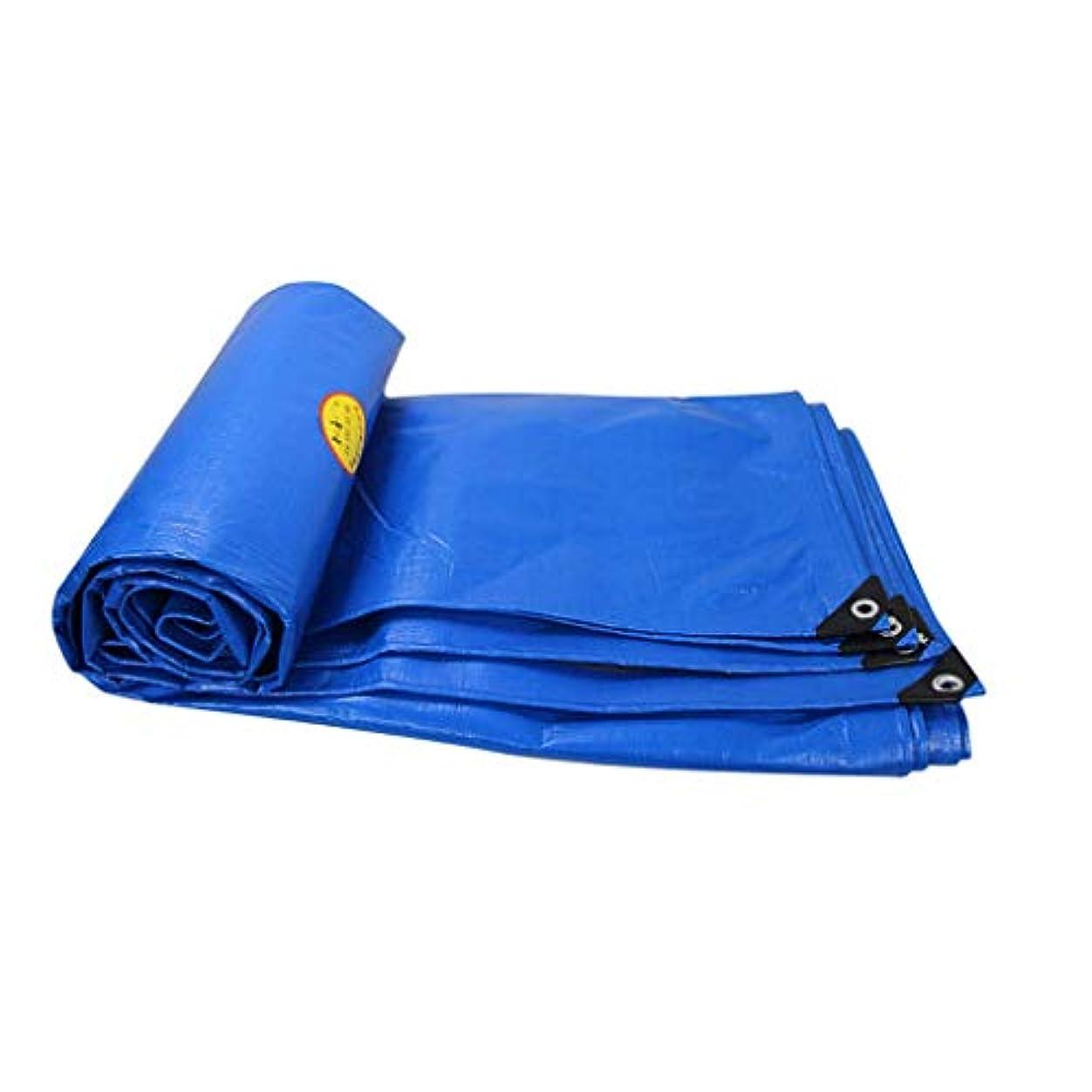 不足動揺させる論争の的厚い絶縁材の防水シートの防水日焼け止めの防水シートの日除けの布のプラスチック布のポンチョの防水シート (Color : Blue, Size : 5x7m)