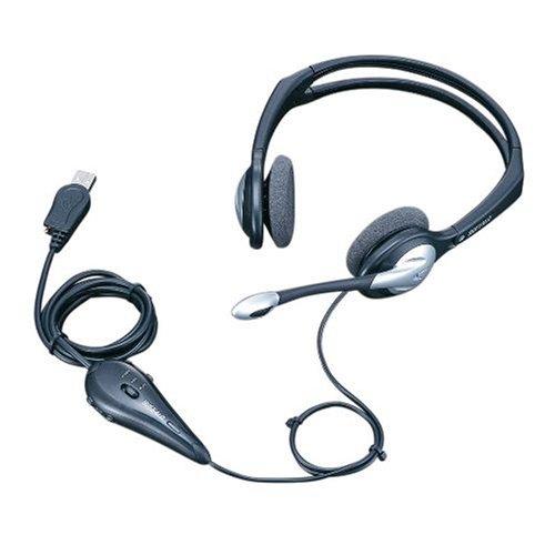iBUFFALO ヘッドセット USB接続 ヘッドバンドタイプ 両耳 シルバー 【PlayStation4,PS4 動作確認済】 BMHUH01SVA