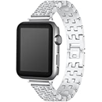 inverlee Luxury合金with Faux Rehinestoneブレスレット時計バンドストラップfor Apple Watch 38 / 42 mm 42mm