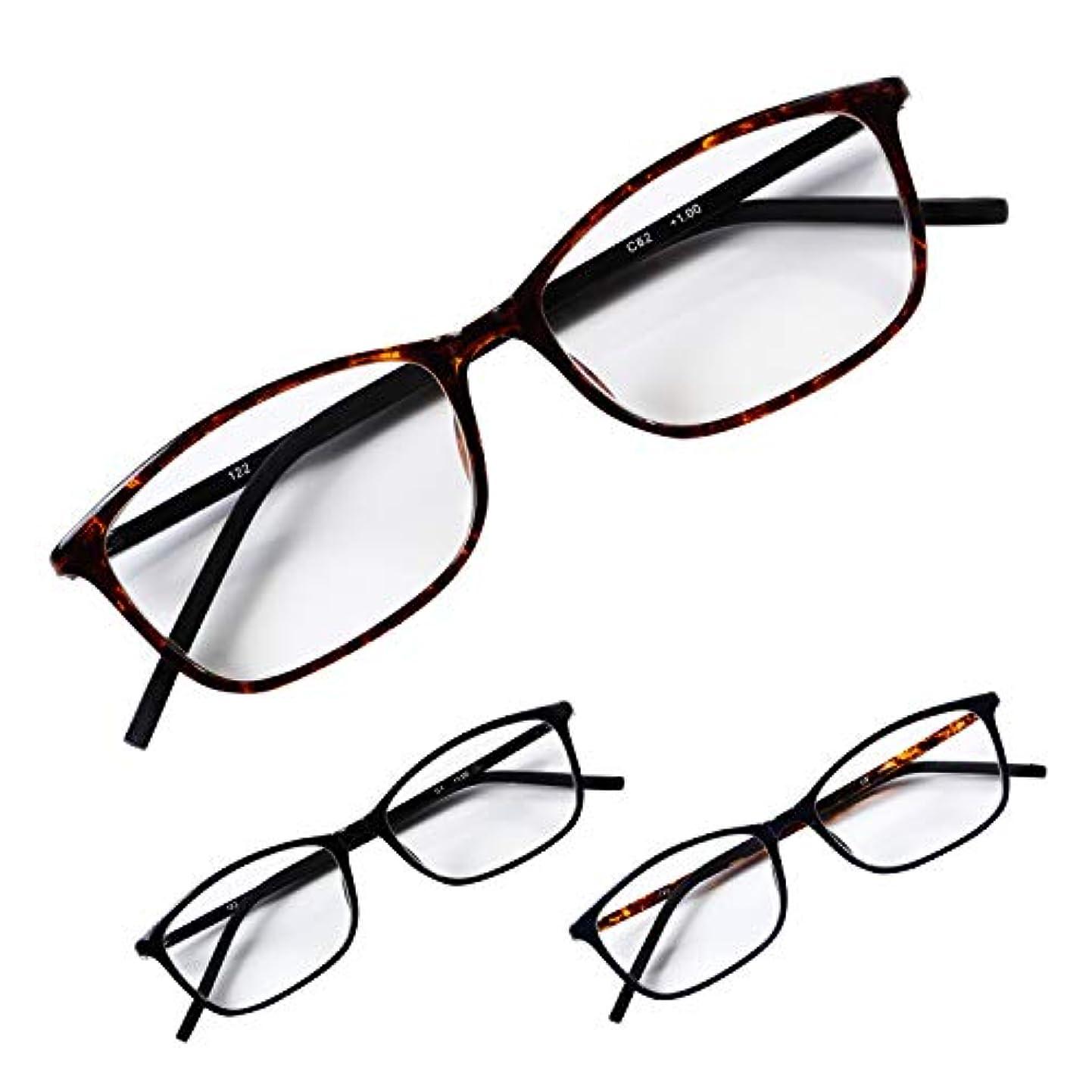 妖精貫入土地老眼鏡に見えないおしゃれなシニアグラス 誠実な印象のスクエア デミブラウン +1.0 PrePiar