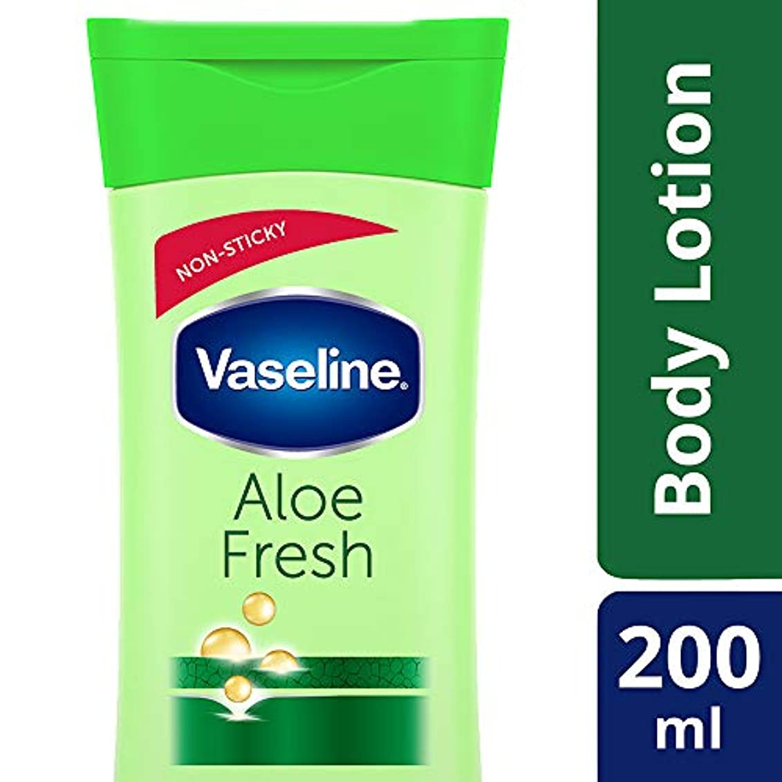 代表団疑問に思う雑品Vaseline Intensive Care Aloe Fresh Body Lotion, 200 ml