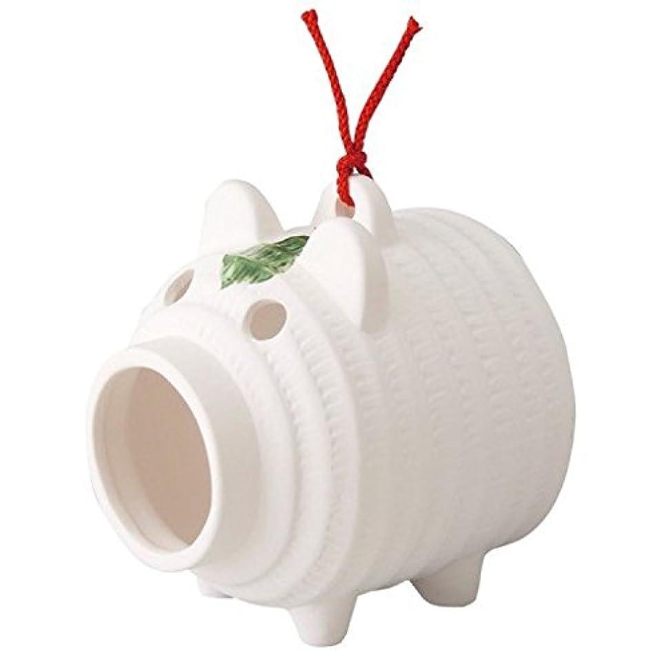 蚊取線香 蚊取り線香立て アウトドア用品 涼しげな「置物とインテリア」 ぶた蚊遣器 ブタ 豚型