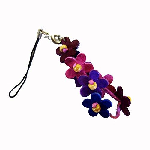 [해외](노 브랜드 제품) 가죽 | 가죽 스트랩 (플라워 | 꽃 S) (퍼플)/(No Brand Item) Leather | Leather Strap (Flower | Flower S) (Purple)