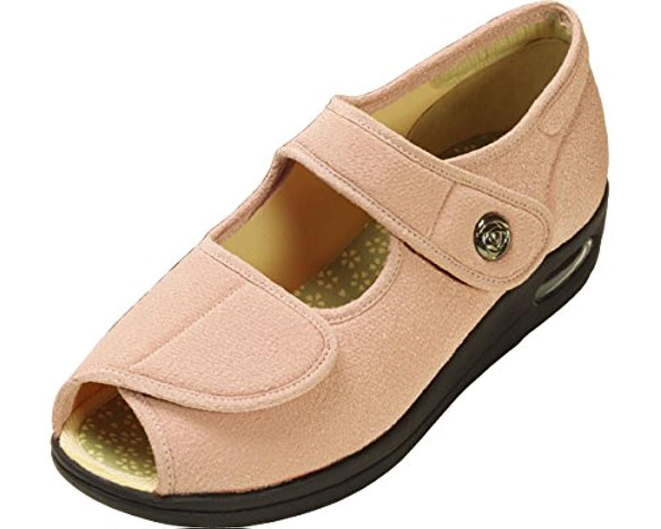 睡眠扇動ダース彩彩~ちりめん~ 両足 婦人用 24.0cm さくら W1103 (マリアンヌ製靴) (シューズ)(返品不可)