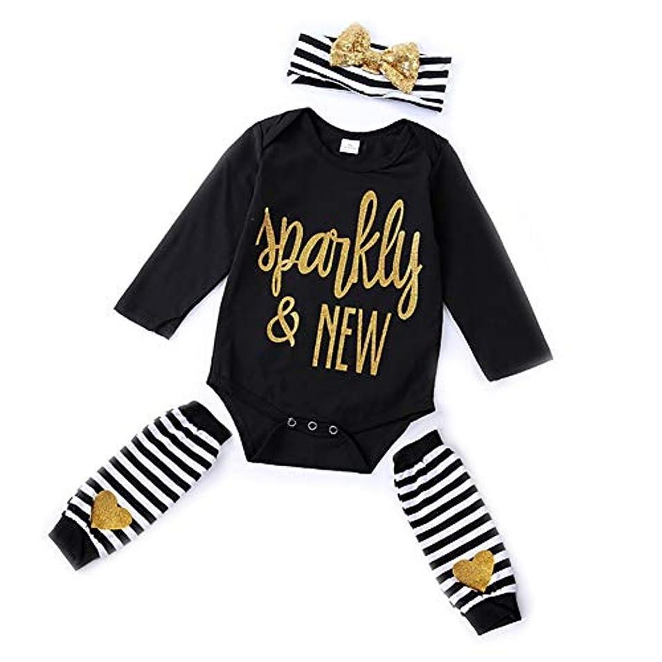 Urmagic新生児 ロンパース 女の子 男の子 ヘアバンド ひざあて 3点セット 長袖 出産祝い 記念写真 ハロウィン 普段着