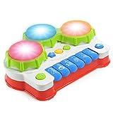 NextX ドラム おもちゃ 赤ちゃん 多機能 キーボード 知育 玩具 四つモードつき