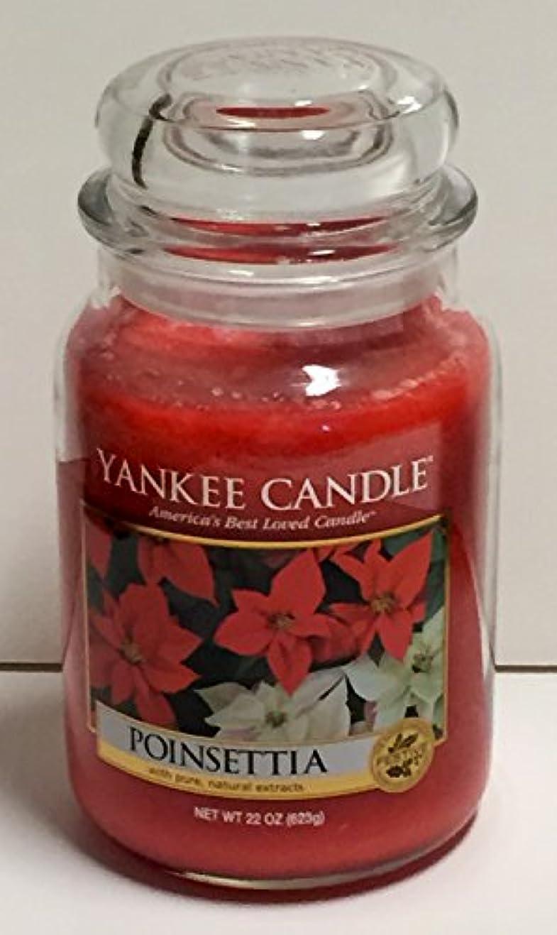 中庭故国堂々たるYankee Candleポインセチア、Festive香り Large Jar Candles レッド B015S91CGI