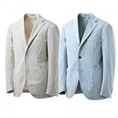 Boglioli Coat R3302G S853: Off-White, Blue Grey
