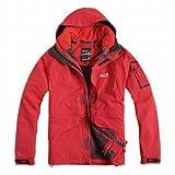 Patagonia メンズ ジャケット Eamkevc 登山 アウトドア用 インナー付ジャケット  大 レッド a1542